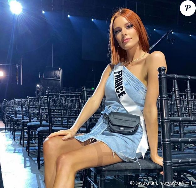 Maëva Coucke lors du concours de Miss Univers 2019. Instagram, le 7 décembre 2019.