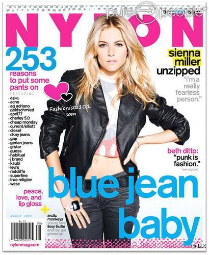 Sienna Miller en couverture de Nylon USA