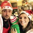 Noémie Honiat et Quentin Bourdy ont passé leur premier Noël avec leur bébé Zacharie. Décembre 2016.