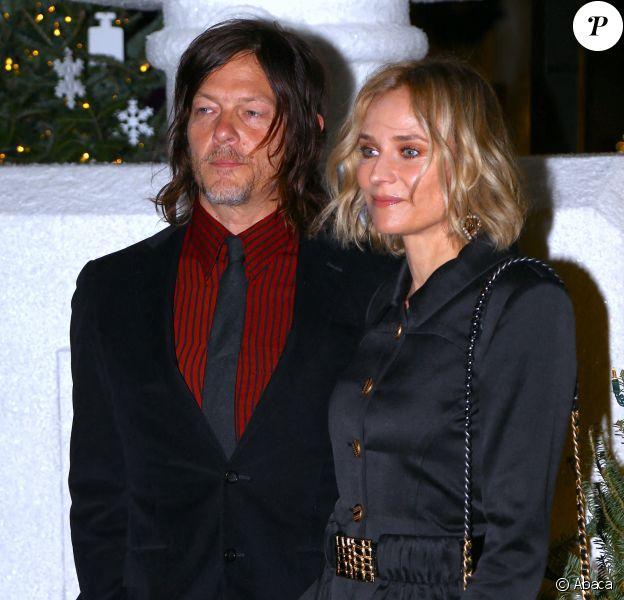 Norman Reedus et Diane Kruger assistent à la soirée du parfum Chanel N°5 à l'hôtel Standard. New York, le 10 décembre 2019.