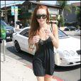 Lindsay Lohan en pleine séance d'essayage à Beverly Hills le 26 juillet 2009