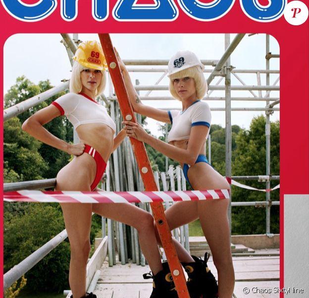 Cara Delevingne et Kendall Jenner en couverture du calendrier 2020 du magazine Chaos Sixtynine. Photo par Dexter Navy.