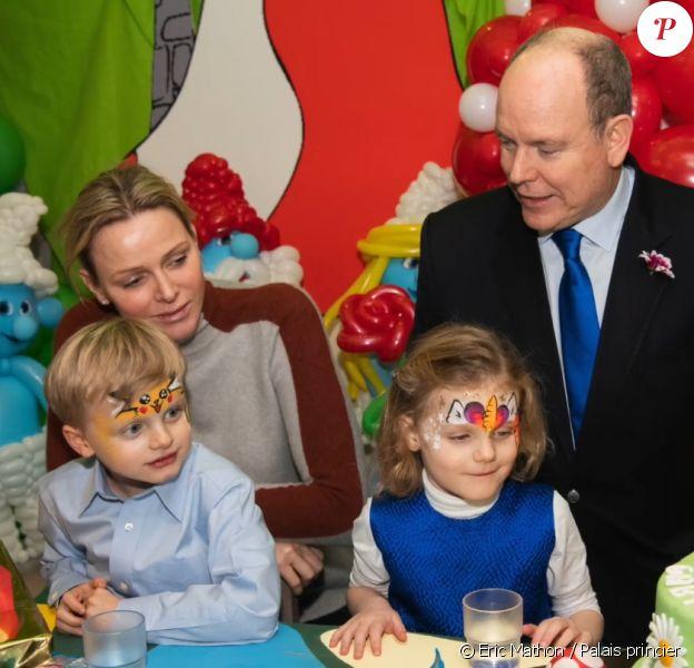 Jacques et Gabriella de Monaco ont fêté leurs 5 ans au palais princier avec leurs parents Albert et Charlene, le 11 décembre 2019.