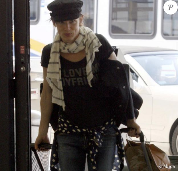 Juliette Lewis à l'aéroport de Los Angeles