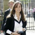 Kate Middleton lors de la remise de son diplôme universitaire à l'université St Andrews, en Ecosse, en 2005.