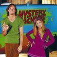 "Freddie Prinze Jr., Linda Cardellini, Matthew Lillard et Sarah Michelle Gellar dans le film ""Scooby Doo"". Le 7 mars 2001."
