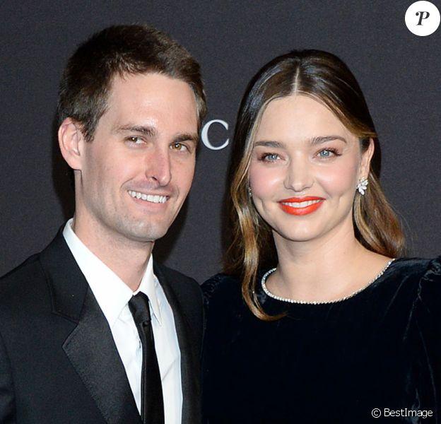 Miranda Kerr et son mari Evan Spiegel à la soirée LACMA Art + Film en l'honneur de Catherine Opie et Guillermo Del Toro présentée par Gucci à Los Angeles, le 3 novembre 2018