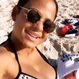Christina Milian, enceinte de M. Pokora, en bikini à Tel Aviv, en Israël, le 4 novembre 2019.