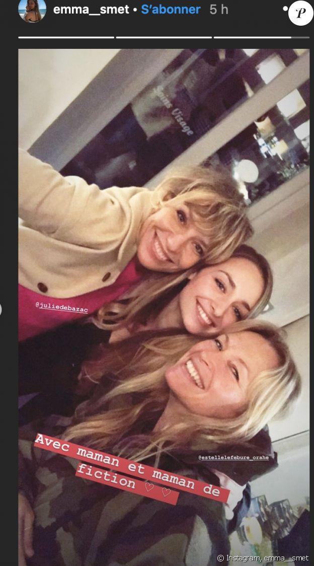 """Estelle Lefébure rend visite à sa fille Emma Smet sur le tournage de """"Demain nous appartient"""" - 19 décembre 2019, Instagram"""