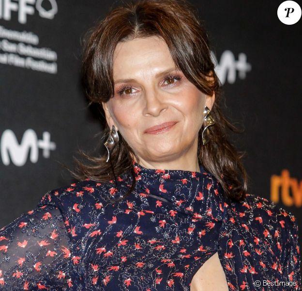 Juliette Binoche au photocall de La Verite lors du 67ème Festiva du Film de San Sebastian à l'hôtel Victoria Eugenia en Espagne, le 22 septembre 2019.