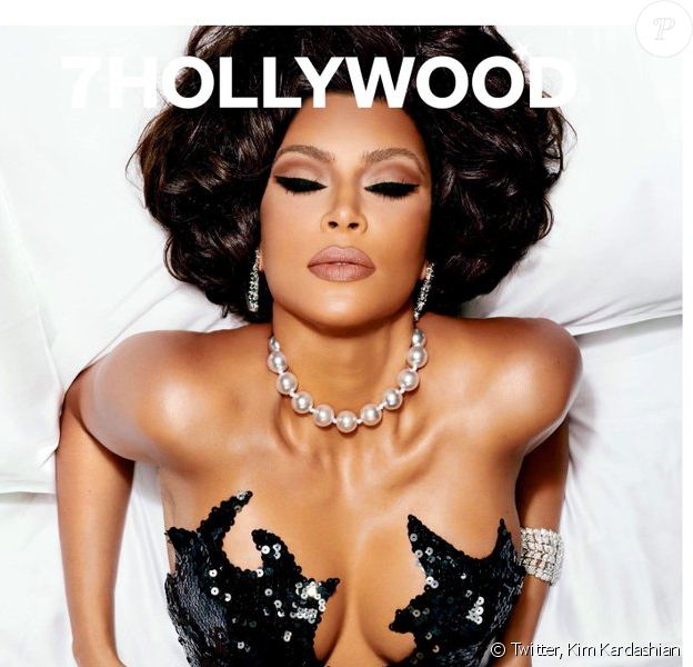 Kim Kardashian en couverture du magazine 7Hollywood. Photo par Alix Malka.