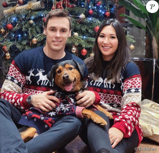 Louis et Marie Ducruet le 27 décembre 2019 sur Instagram.