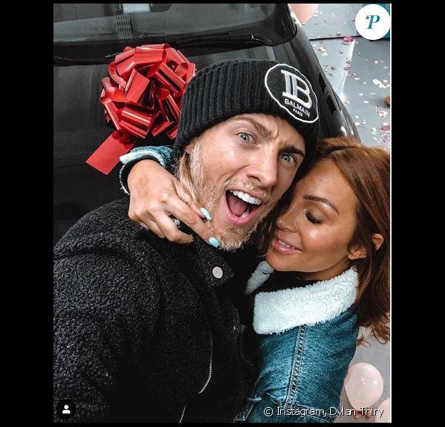 Dylan Thiry avec sa compagne Fidji sur Instagram le 18 novembre 2019.
