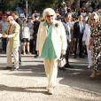 Maria del Pilar de Bourbon - Le roi Juan Carlos d'Espagne assiste à un hommage taurin rendu à sa mère Maria de las Mercedes de Bourbon, aux Arènes d'Aranjuez à Madrid en Espagne le 2 juin 2019.