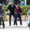 Will Smith et Martin Lawrence sur le tournage de Bad Boys for Life à Miami, le 3 avril 2019