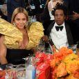 """Jay-Z et sa femme Beyonce Knowles lors de la cérémonie de la 77ème édition des """"Golden Globes Awards"""" à Los Angeles, le 5 janvier 2020. © HFPA/Zuma Press/Bestimage"""