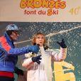 """Marie-Anne Chazel - 40ème anniversaire des """"Bronzés font du ski"""", avec la présence des acteurs et du réalisateur à Val d'Isère le 11 Janvier 2020. © Pascal Fayolle / Bestimage"""
