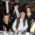 Exclusif - Régine, Dominique Frémont (Mauboussin) et sa femme Nada et Jean-Louis Garnier - Régine fête ses 90 ans à La Chope des Puces à Saint-Ouen. Le 10 Janvier 2020 © Guirec Coadic / Bestimage