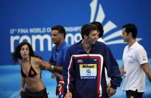 Michael Phelps : Le quintuple champion du monde à Rome déchaîne les passions... Une fan a tenté de se jeter sur lui !