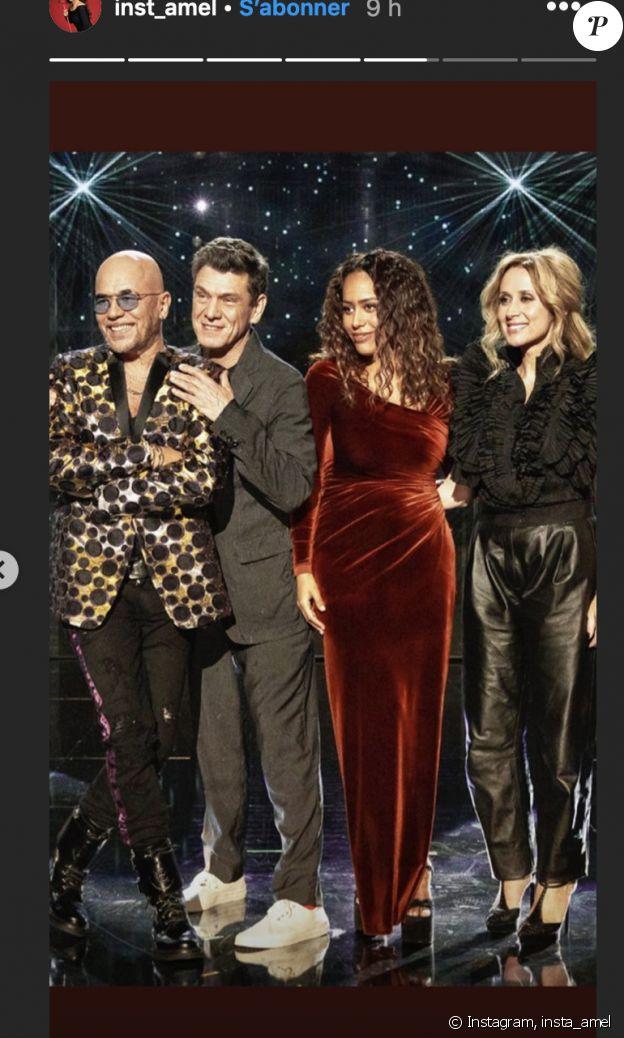 """Amel Bent, Marc Lavoine, Lara Fabian et Pascal Obispo dans """"The Voice"""" - Instagram, 18 janvier 2020"""