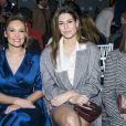 """Lilou Fogli et Laury Thilleman assistent au défilé de mode Haute-Couture printemps-été 2020 """"Alexis Mabille"""" à Paris. Le 21 janvier 2020."""