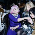 """Arielle Dombasle et Marie Beltrami assistent au défilé de mode Haute-Couture printemps-été 2020 """"Alexis Mabille"""" à Paris. Le 21 janvier 2020."""