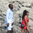 Usain Bolt et sa compagne Kasi J. Bennett sont en vacances à Formentera, Espagne, le 15 août 2019.