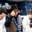 """Exclusif - Marc Veyrat assiste à l'inauguration du restaurant """"La Fontaine Gaillon"""" au 1, Rue de la Michodière, dans le 2ème arrondissement de Paris. Le 15 janvier 2020. © Rachid Bellak/Bestimage"""