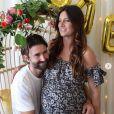 Brandon Jenner et sa fiancée Cayley Stoker, enceinte de jumeaux. Janvier 2019.