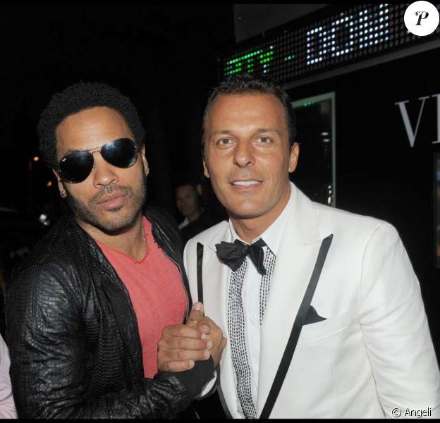 Lenny Kravitz, avec Jean-Roch, fête les 20 ans du VIP Room de Saint-Tropez