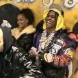 Rihanna et A$AP Rocky lors du concert Yams Day, en hommage au défunt A$AP Yams. Teaneck, le 17 janvier 2020.
