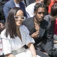 """Rihanna et ASAP Rocky - People au défilé de mode Homme printemps-été 2019 """"Louis Vuitton"""" à Paris. Le 21 juin 2018 © Olivier Borde / Bestimage  People at the Louis Vuitton men fashion show SS 2019 in Paris. On june 21st 201821/06/2018 - Paris"""