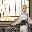 """Christina Aguilera au défilé de mode Haute-Couture automne-hiver 2019/2020 """"Jean Paul Gaultier"""" à Paris. Le 3 juillet 2019 © Olivier Borde / Bestimage"""