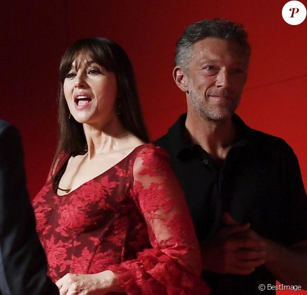 """Monica Bellucci et Vincent Cassel lors de la projection du film """"Irreversible"""" pendant le76ème Festival du Film de Venise la Mostra à Venise en Italie le 31 Août 2019"""