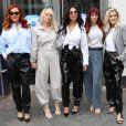 Nicole Scherzinger, Ashley Roberts, Jessica Sutta, Carmit Bachar - Les Pussycat Dolls arrivent au Global Radio Studios à Londres le 31 janvier 2020.