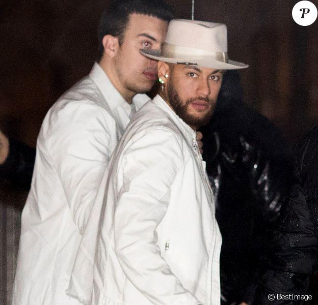 """Neymar Jr. - Soirée d'anniversaire de Neymar Jr. """"Nuit Blanche"""" à la discothèque le Yoyo à Paris, France, le 2 février 2020."""