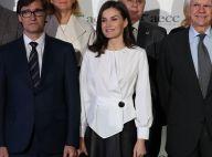 Letizia d'Espagne mobilisée en toute élégance pour la Journée contre le cancer