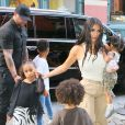 Kim Kardashian est allée assister avec ses enfants Saint West, North West et Chicago West à la messe dominicale de son mari K. West à New York, le 29 septembre 2019
