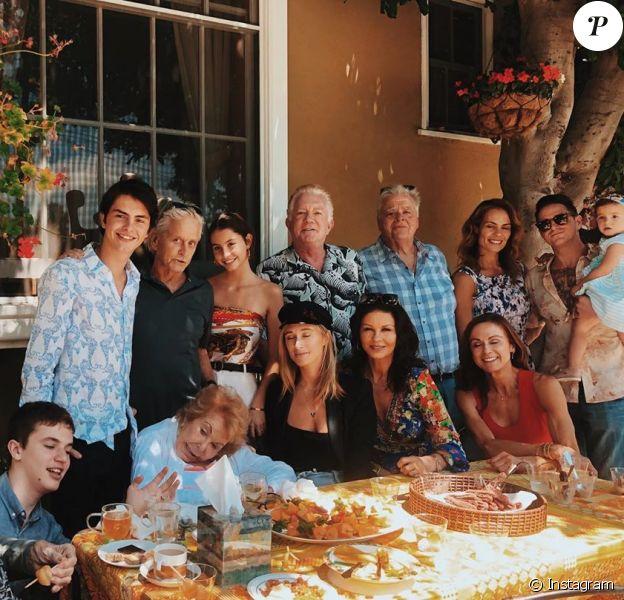 Dernières photos de famille de Kirk Douglas, le 19 août 2019.