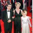 Melanie Griffith, Antonio Banderas et leur fille Stella aux 72e Oscars, au Shrine Auditorium. Los Angeles, le 27 mars 2000.