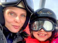 Sylvie Tellier au ski avec ses enfants : tendres photos et grosse sécurité