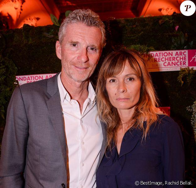Exclusif - Denis Brogniart et sa femme Hortense Brogniart - Dîner de la Fondation ARC au Pavillon Cambon-Capucines à Paris, le 7 octobre 2019. © Rachid Bellak / Bestimage