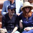 Bruno Solo et sa femme Véronique dans les tribunes lors des internationaux de France de Roland Garros à Paris, le 31 mai 2017. © Dominique Jacovides - Cyril Moreau/ Bestimage