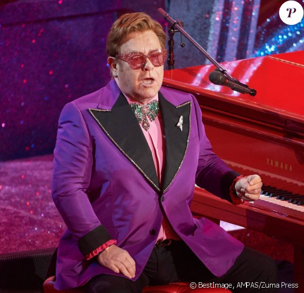 Elton John lors de la 92ème cérémonie des Oscars 2020 au Hollywood and Highland à Los Angeles, CA, USA, on February 9, 2020. © AMPAS/Zuma Press/Bestimage