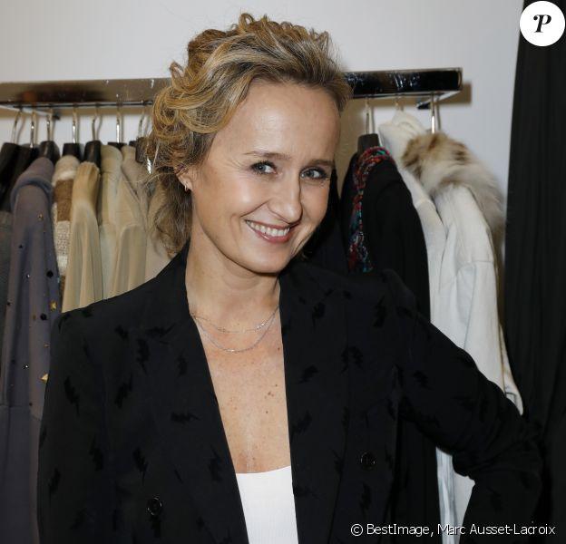 Exclusif - Caroline Roux - Cocktail pour le lancement du Pop-up exclusif des vêtements pour femme P.A.R.O.S.H. au Montaigne Market à Paris le 19 novembre 2019. © Marc Ausset-Lacroix/Bestimage