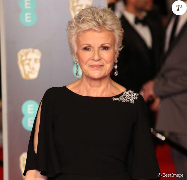 Julie Walters - Arrivée des people à la 71ème cérémonie des British Academy Film Awards (BAFTA) au Royal Abert Hall à Londres, le 18 février 2018.