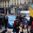 Illustration corbillard - Arrivées aux obsèques de Michou en l'église Saint-Jean de Montmartre à Paris. Le 31 janvier 2020