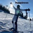 David Beckham en vacances au ski avec sa famille sur Instagram, le 23 février 2020.