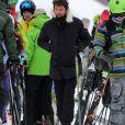 """Exclusif - Pascal Balland - Laeticia Hallyday et son compagnon Pascal Balland lors d'une journée au ski à la station """"Big Sky"""" dans le Montana avec leurs filles respectives, le 16 février 2020."""