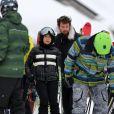 """Exclusif - Jade Hallyday et Pascal Balland - Laeticia Hallyday et son compagnon Pascal Balland lors d'une journée au ski à la station """"Big Sky"""" dans le Montana avec leurs filles respectives, le 16 février 2020."""